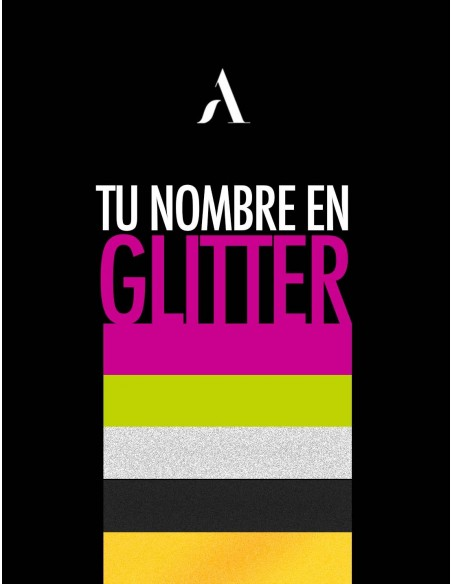 Personaliza tu nombre en Glitter