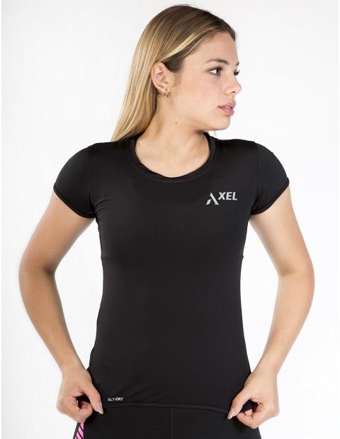 Reflectante Dry Mujer Manga Corta Camiseta Negra Sly 35ARjL4